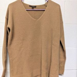 ANN TAYLOR 100% Cashmere V-Neck Sweater